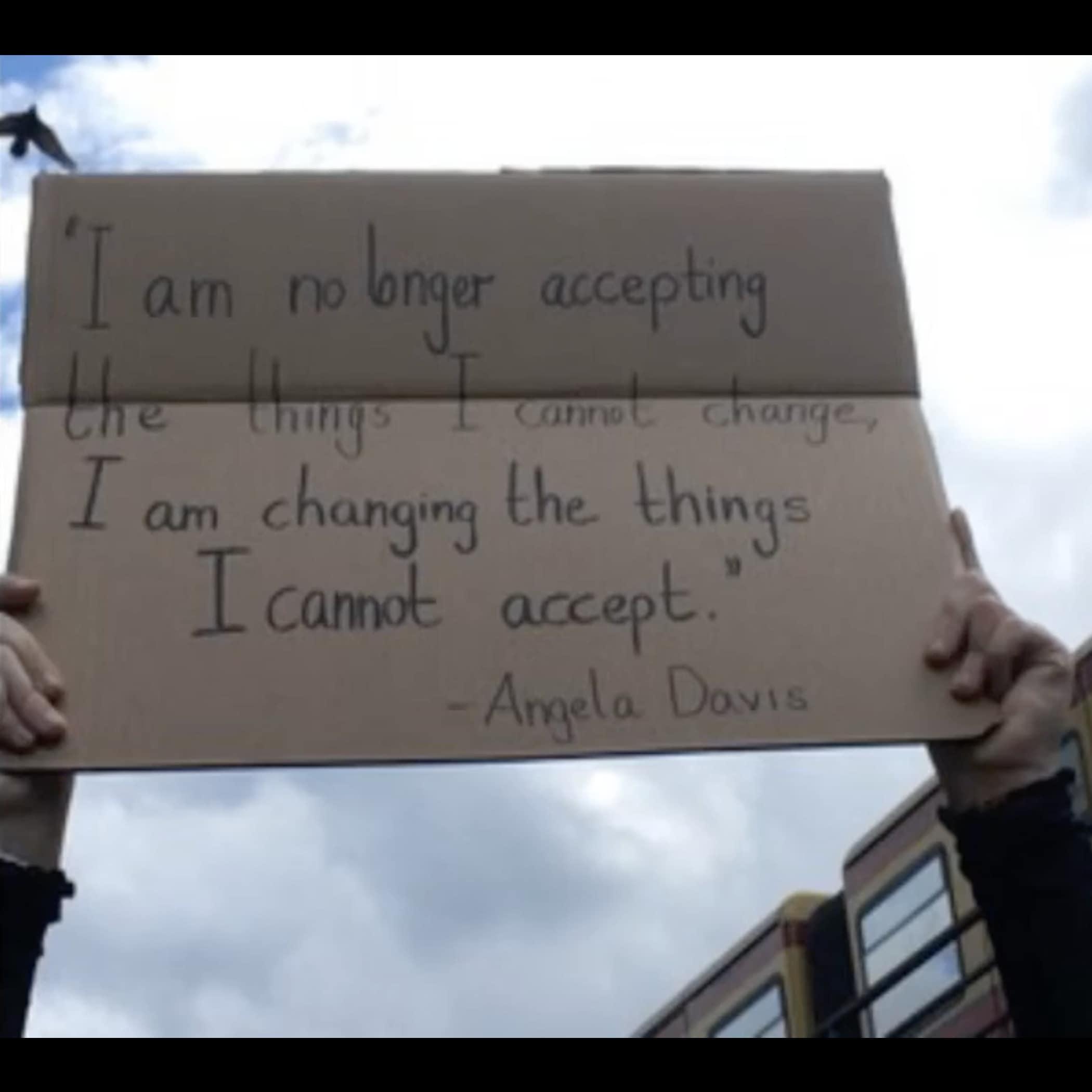 Angela Davis change quote Lumos Center Meditation